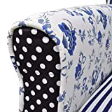 Relaxsessel vidaXL Blumen Blau & Weiß - 4