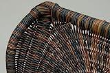 Stillstuhl LUXOR aus Rattan in der Farbe Zebrano - 4