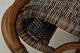 Stillstuhl LUXOR aus Rattan in der Farbe Zebrano - 6
